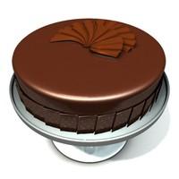 3d obj modern chocolate cake