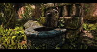 old fountain 3d obj