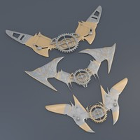 pins steampunk 3d model