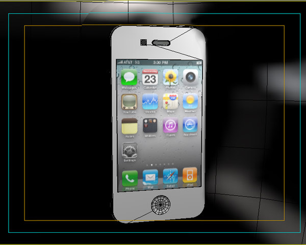 apple iphone 4g 3d model - Apple Iphone 4G... by saffan
