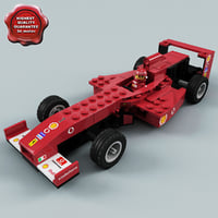 3d model lego racing car