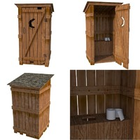 toilet outhouse 3d model