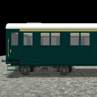 railway coach train wagon 3d 3ds