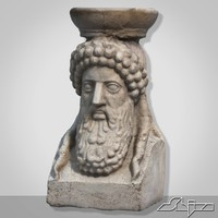 bust greek 3d fbx