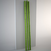 Three decorative bamboo rods