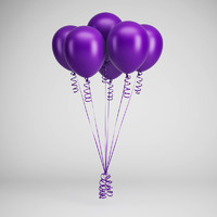 party balloons 06 c4d