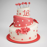 birthday cake 11 3d max