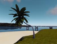 3d curved palmtree