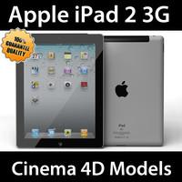 3d model apple ipad 2 3g