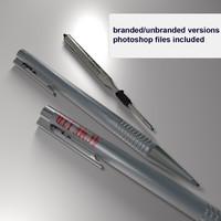 business ballpoint pen ball 3d model