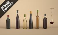3dsmax 6 wine bottles