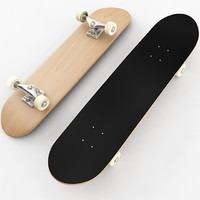 skateboard materials 3d model