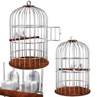 bird cage 3d obj