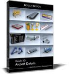 maya airport details 3d: