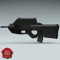 fn herstal f2000 3d model