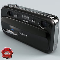 3d model of fujifilm finepix real w3