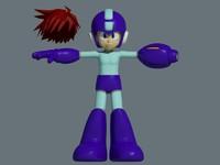 3d max megaman rockman child