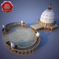 basilica lady peace yamoussoukro 3d model
