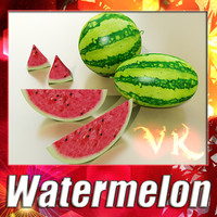 Watermelon + High Resolution Textures