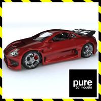 3d original concept sports car