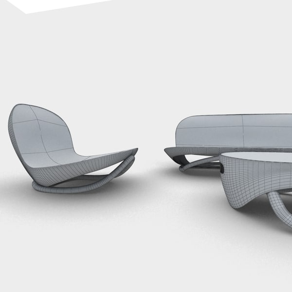 modern lounge chair 3d 3ds - Screen Lounge armchair... by javiier