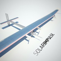 solar impulse 3d model
