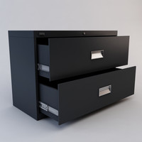 3d drawer file cabinet model