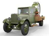 3d zis-12 searchlight truck model