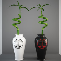 bamboo vase 3d 3ds