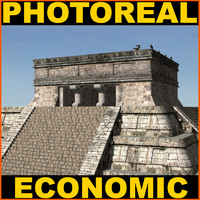 Photoreal Mayan temple