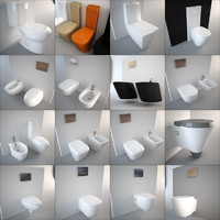 Designer Toilet and Bidet Collection