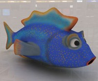 cartoon fish 3d max