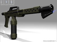 3d colonial m240 flamethrower aliens