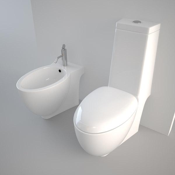Toilet design bidet 3d model - Mobeldesigner italien ...