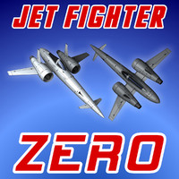 3ds max jet fighter zero