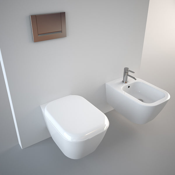 toilet design bidet 3d model. Black Bedroom Furniture Sets. Home Design Ideas