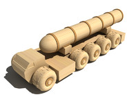 maya wooden military balistic rocket launcher