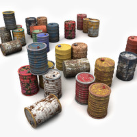 Metal Barrels Painted Collection