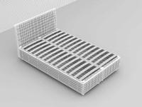3d model bed base
