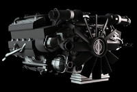 car engine 3d 3ds