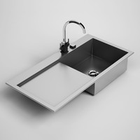 3d model kitchen sink 24