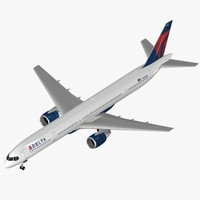 3d airliner b 757-300 delta