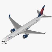 3d model airliner b 757-300 delta