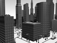 city custom building 3d model