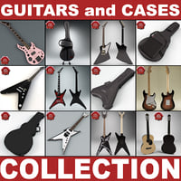 guitars cases v2 3d 3ds