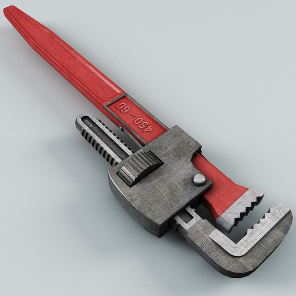 pipe wrench 3d model - Pipe Wrench... by 3d_molier