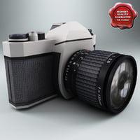 3d slr photo camera model