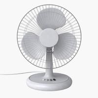 3d standing fan model