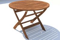 x folding garden table