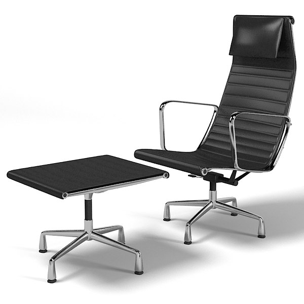 Vitra aluminum group 3d model for Chaise eames pied metal